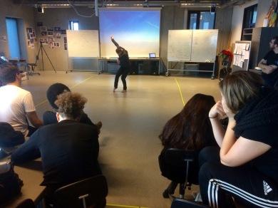 Performance art workshop at Aalborg University, 2017