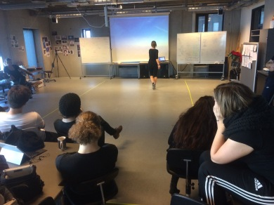 Performance art workshop at Aalborg University, 2017