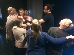 Performance art workshop at Aalborg University, 2016
