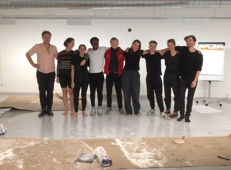 Performance art workshop at the University of Bergen, 2018